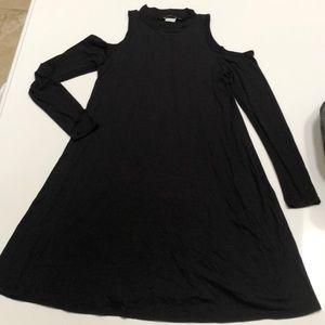 Dresses & Skirts - Long Sleeved Open Shoulder Dress